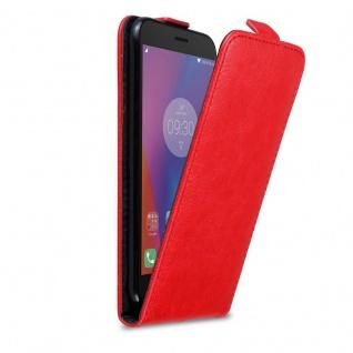 Cadorabo Hülle für Lenovo K6 / K6 POWER in APFEL ROT Handyhülle im Flip Design mit Magnetverschluss Case Cover Schutzhülle Etui Tasche Book Klapp Style - Vorschau 1