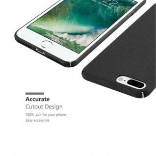Cadorabo Hülle für Apple iPhone 8 PLUS / iPhone 7 PLUS / iPhone 7S PLUS in FROSTY SCHWARZ - Hardcase Handyhülle aus Plastik gegen Kratzer und Stöße - Schutzhülle Bumper Ultra Slim Back Case Hard Cover - Vorschau 4