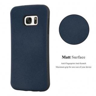 Cadorabo Hülle für Samsung Galaxy S7 - Hülle in MEERES BLAU - Small Waist Handyhülle mit rutschfestem Gummi-Rücken - Hard Case TPU Silikon Schutzhülle - Vorschau 3