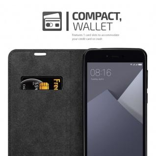 Cadorabo Hülle für Xiaomi RedMi NOTE 5A PRIME in NACHT SCHWARZ - Handyhülle mit Magnetverschluss, Standfunktion und Kartenfach - Case Cover Schutzhülle Etui Tasche Book Klapp Style - Vorschau 3