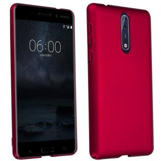 Cadorabo Hülle für Nokia 8 2017 in METALL ROT ? Hardcase Handyhülle aus Plastik gegen Kratzer und Stöße ? Schutzhülle Bumper Ultra Slim Back Case Hard Cover