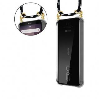 Cadorabo Handy Kette für Nokia 3.2 in SCHWARZ SILBER - Silikon Necklace Umhänge Hülle mit Gold Ringen, Kordel Band Schnur und abnehmbarem Etui ? Schutzhülle - Vorschau 5