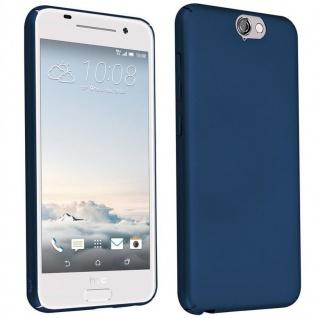 Cadorabo Hülle für HTC One A9 in METALL BLAU - Hardcase Handyhülle aus Plastik gegen Kratzer und Stöße - Schutzhülle Bumper Ultra Slim Back Case Hard Cover