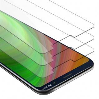 Cadorabo 3x Panzer Folie für Nokia 7 PLUS - Schutzfolie in KRISTALL KLAR - 3er Pack Gehärtetes (Tempered) Display-Schutzglas in 9H Härte mit 3D Touch Kompatibilität