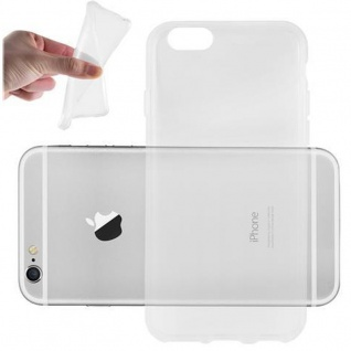 Cadorabo Hülle für Apple iPhone 6 / iPhone 6S - Hülle in VOLL TRANSPARENT ? Handyhülle aus TPU Silikon im Ultra Slim 'AIR' Design - Ultra Slim Soft Backcover Case Bumper