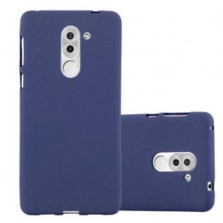 Cadorabo Hülle für Honor 6X in FROST DUNKEL BLAU - Handyhülle aus flexiblem TPU Silikon - Silikonhülle Schutzhülle Ultra Slim Soft Back Cover Case Bumper