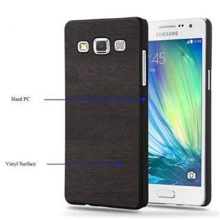 Cadorabo Hülle für Samsung Galaxy A5 2015 in WOODY SCHWARZ - Hardcase Handyhülle aus Plastik gegen Kratzer und Stöße - Schutzhülle Bumper Ultra Slim Back Case Hard Cover - Vorschau 5