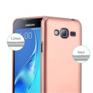 Cadorabo Hülle für Samsung Galaxy J3 / J3 DUOS 2016 in METALLIC ROSE GOLD - Handyhülle aus flexiblem TPU Silikon - Silikonhülle Schutzhülle Ultra Slim Soft Back Cover Case Bumper - Vorschau 4