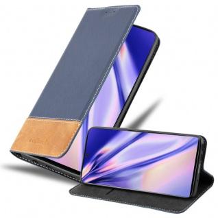 Cadorabo Hülle für Samsung Galaxy NOTE 10 in DUNKEL BLAU BRAUN Handyhülle mit Magnetverschluss, Standfunktion und Kartenfach Case Cover Schutzhülle Etui Tasche Book Klapp Style