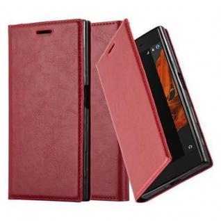 Cadorabo Hülle für Sony Xperia X Compact in APFEL ROT - Handyhülle mit Magnetverschluss, Standfunktion und Kartenfach - Case Cover Schutzhülle Etui Tasche Book Klapp Style