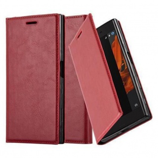 Cadorabo Hülle für Sony Xperia X Compact in APFEL ROT Handyhülle mit Magnetverschluss, Standfunktion und Kartenfach Case Cover Schutzhülle Etui Tasche Book Klapp Style - Vorschau 1