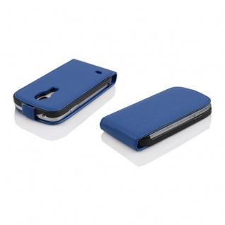 Cadorabo Hülle für Samsung Galaxy S4 MINI in KÖNIGS BLAU - Handyhülle im Flip Design aus strukturiertem Kunstleder - Case Cover Schutzhülle Etui Tasche Book Klapp Style - Vorschau 3