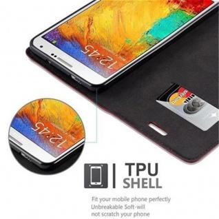 Cadorabo Hülle für Samsung Galaxy NOTE 3 in APFEL ROT - Handyhülle mit Magnetverschluss, Standfunktion und Kartenfach - Case Cover Schutzhülle Etui Tasche Book Klapp Style - Vorschau 4