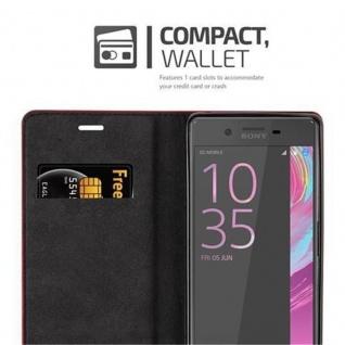 Cadorabo Hülle für Sony Xperia X in APFEL ROT Handyhülle mit Magnetverschluss, Standfunktion und Kartenfach Case Cover Schutzhülle Etui Tasche Book Klapp Style - Vorschau 4