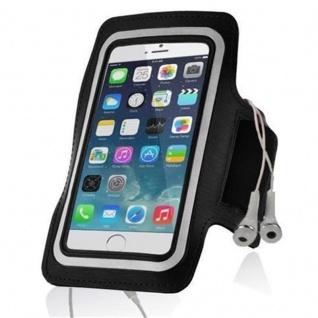 Cadorabo - Neopren Smartphone Sport Armband Fitnessstudio Jogging Armband Oberarmtasche kompatibel mit 3.7 - 4.5 Zoll Handys wie z. B. Apple iPhone 4, 5, Nokia Lumia 620 , Sony Xperia E, Samsung Galaxy ACE 2, HTC ONE V usw. mit Schlüsselfach und - Vorschau 5