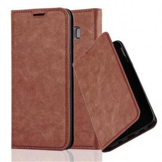 Cadorabo Hülle für Samsung Galaxy S8 in CAPPUCCINO BRAUN - Handyhülle mit Magnetverschluss, Standfunktion und Kartenfach - Case Cover Schutzhülle Etui Tasche Book Klapp Style