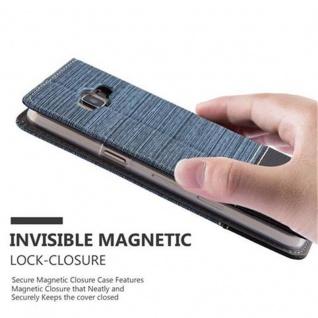 Cadorabo Hülle für Samsung Galaxy A3 2015 in DUNKEL BLAU SCHWARZ - Handyhülle mit Magnetverschluss, Standfunktion und Kartenfach - Case Cover Schutzhülle Etui Tasche Book Klapp Style - Vorschau 5