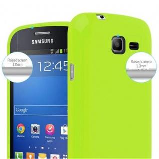 Cadorabo Hülle für Samsung Galaxy TREND LITE in JELLY GRÜN ? Handyhülle aus flexiblem TPU Silikon ? Silikonhülle Schutzhülle Ultra Slim Soft Back Cover Case Bumper - Vorschau 3
