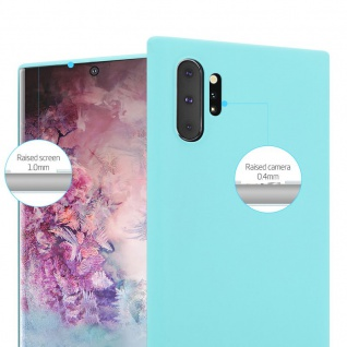Cadorabo Hülle für Samsung Galaxy NOTE 10 PLUS in CANDY BLAU - Handyhülle aus flexiblem TPU Silikon - Silikonhülle Schutzhülle Ultra Slim Soft Back Cover Case Bumper - Vorschau 5