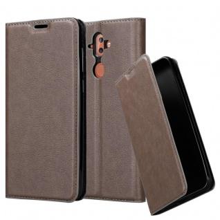 Cadorabo Hülle für Nokia 8 Sirocco in KAFFEE BRAUN Handyhülle mit Magnetverschluss, Standfunktion und Kartenfach Case Cover Schutzhülle Etui Tasche Book Klapp Style