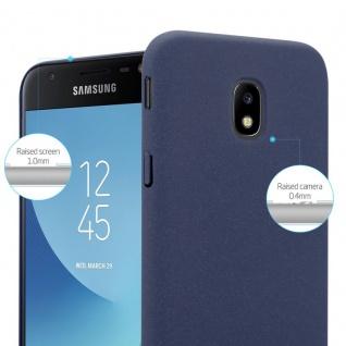 Cadorabo Hülle für Samsung Galaxy J3 2017 in FROSTY BLAU - Hardcase Handyhülle aus Plastik gegen Kratzer und Stöße - Schutzhülle Bumper Ultra Slim Back Case Hard Cover - Vorschau 3