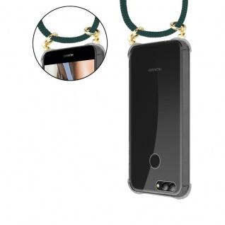 Cadorabo Handy Kette für Huawei NOVA 2 in ARMEE GRÜN - Silikon Necklace Umhänge Hülle mit Gold Ringen, Kordel Band Schnur und abnehmbarem Etui ? Schutzhülle - Vorschau 5