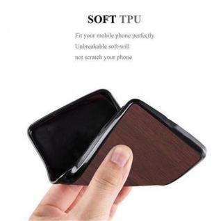 Cadorabo Hülle für Samsung Galaxy J1 2016 in WOODEN KAFFEE - Handyhülle aus flexiblem TPU Silikon - Silikonhülle Schutzhülle Ultra Slim Soft Back Cover Case Bumper - Vorschau 3