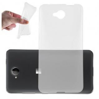 Cadorabo Hülle für Nokia Lumia 650 in VOLL TRANSPARENT - Handyhülle aus flexiblem TPU Silikon - Silikonhülle Schutzhülle Ultra Slim Soft Back Cover Case Bumper
