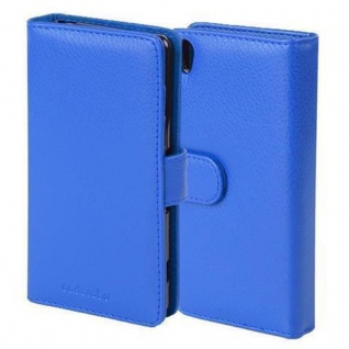 Cadorabo Hülle für Sony Xperia X Performance in NEPTUN BLAU ? Handyhülle mit Magnetverschluss und 3 Kartenfächern ? Case Cover Schutzhülle Etui Tasche Book Klapp Style