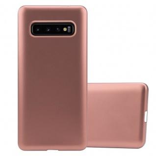 Cadorabo Hülle für Samsung Galaxy S10 in METALLIC ROSÉ GOLD - Handyhülle aus flexiblem TPU Silikon - Silikonhülle Schutzhülle Ultra Slim Soft Back Cover Case Bumper