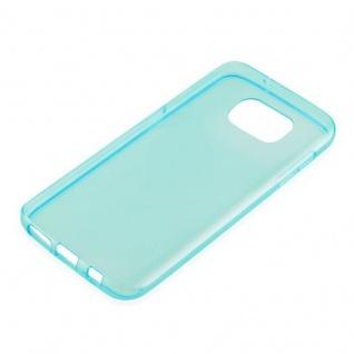 Cadorabo Hülle für Samsung Galaxy S7 in TRANSPARENT BLAU - Handyhülle aus flexiblem TPU Silikon - Silikonhülle Schutzhülle Ultra Slim Soft Back Cover Case Bumper - Vorschau 2