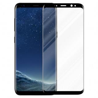 Cadorabo Vollbild Panzer Folie für Samsung Galaxy S8 - Schutzfolie in TRANSPARENT mit SCHWARZ - Gehärtetes (Tempered) Display-Schutzglas in 9H Härte mit 3D Touch Kompatibilität - Vorschau 2