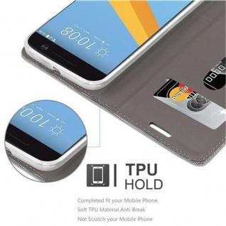 Cadorabo Hülle für HTC 10 (One M10) in HELL GRAU BRAUN - Handyhülle mit Magnetverschluss, Standfunktion und Kartenfach - Case Cover Schutzhülle Etui Tasche Book Klapp Style - Vorschau 4