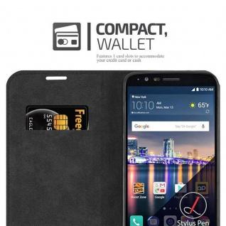 Cadorabo Hülle für LG STYLUS 3 in APFEL ROT Handyhülle mit Magnetverschluss, Standfunktion und Kartenfach Case Cover Schutzhülle Etui Tasche Book Klapp Style - Vorschau 5