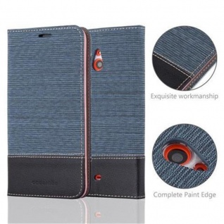 Cadorabo Hülle für Nokia Lumia 1320 in DUNKEL BLAU SCHWARZ - Handyhülle mit Magnetverschluss, Standfunktion und Kartenfach - Case Cover Schutzhülle Etui Tasche Book Klapp Style - Vorschau 2