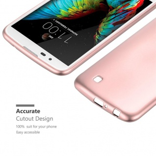 Cadorabo Hülle für LG K10 2016 in METALLIC ROSÉ GOLD - Handyhülle aus flexiblem TPU Silikon - Silikonhülle Schutzhülle Ultra Slim Soft Back Cover Case Bumper - Vorschau 5