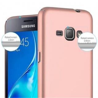 Cadorabo Hülle für Samsung Galaxy J1 2016 in METALL ROSE GOLD ? Hardcase Handyhülle aus Plastik gegen Kratzer und Stöße ? Schutzhülle Bumper Ultra Slim Back Case Hard Cover - Vorschau 5