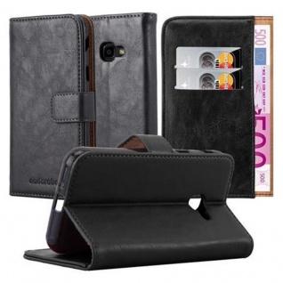 Cadorabo Hülle für Samsung Galaxy Xcover 4 in GRAPHIT SCHWARZ ? Handyhülle mit Magnetverschluss, Standfunktion und Kartenfach ? Case Cover Schutzhülle Etui Tasche Book Klapp Style