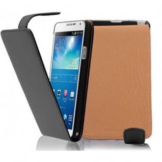 Cadorabo Hülle für Samsung Galaxy NOTE 3 - Hülle in KAVIAR SCHWARZ ? Handyhülle aus glattem Kunstleder im Flip Design - Case Cover Schutzhülle Etui Tasche