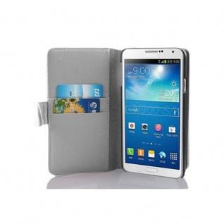 Cadorabo Hülle für Samsung Galaxy NOTE 3 in MAGNESIUM WEIß ? Handyhülle aus strukturiertem Kunstleder mit Standfunktion und Kartenfach ? Case Cover Schutzhülle Etui Tasche Book Klapp Style
