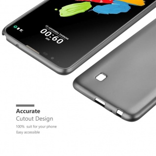 Cadorabo Hülle für LG Stylus 2 in METALLIC GRAU - Handyhülle aus flexiblem TPU Silikon - Silikonhülle Schutzhülle Ultra Slim Soft Back Cover Case Bumper - Vorschau 5
