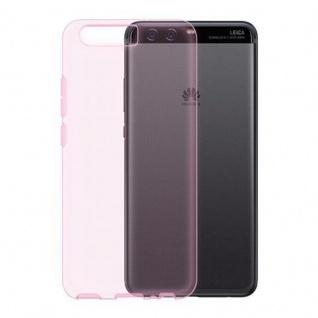 Cadorabo Hülle für Huawei P10 PLUS in TRANSPARENT PINK - Handyhülle aus flexiblem TPU Silikon - Silikonhülle Schutzhülle Ultra Slim Soft Back Cover Case Bumper