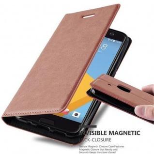 Cadorabo Hülle für HTC 10 (One M10) in CAPPUCCINO BRAUN - Handyhülle mit Magnetverschluss, Standfunktion und Kartenfach - Case Cover Schutzhülle Etui Tasche Book Klapp Style