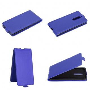 Cadorabo Hülle für Nokia 5 2017 in BRILLIANT BLAU - Handyhülle im Flip Design aus glattem Kunstleder - Case Cover Schutzhülle Etui Tasche Book Klapp Style