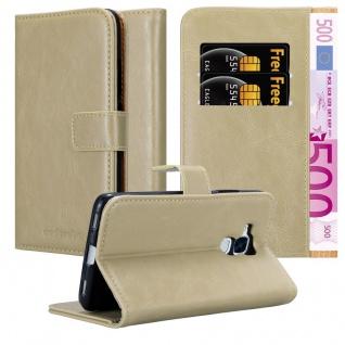 Cadorabo Hülle für Honor 5C in CAPPUCCINO BRAUN Handyhülle mit Magnetverschluss, Standfunktion und Kartenfach Case Cover Schutzhülle Etui Tasche Book Klapp Style