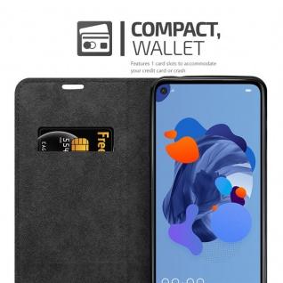 Cadorabo Hülle für Huawei MATE 30 LITE in NACHT SCHWARZ - Handyhülle mit Magnetverschluss, Standfunktion und Kartenfach - Case Cover Schutzhülle Etui Tasche Book Klapp Style - Vorschau 3