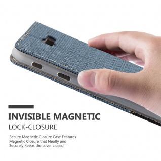 Cadorabo Hülle für Samsung Galaxy A7 2017 in DUNKEL BLAU SCHWARZ - Handyhülle mit Magnetverschluss, Standfunktion und Kartenfach - Case Cover Schutzhülle Etui Tasche Book Klapp Style - Vorschau 5