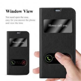 Cadorabo Hülle für LG G6 in KOMETEN SCHWARZ - Handyhülle mit Magnetverschluss, Standfunktion und 2 Sichtfenstern - Case Cover Schutzhülle Etui Tasche Book Klapp Style - Vorschau 2