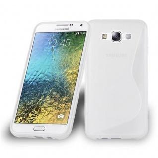 Cadorabo Hülle für Samsung Galaxy E7 2015 in HALB TRANSPARENT - Handyhülle aus flexiblem TPU Silikon - Silikonhülle Schutzhülle Ultra Slim Soft Back Cover Case Bumper