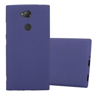 Cadorabo Hülle für Sony Xperia XA2 in FROST DUNKEL BLAU - Handyhülle aus flexiblem TPU Silikon - Silikonhülle Schutzhülle Ultra Slim Soft Back Cover Case Bumper